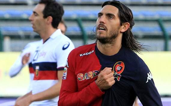 Esultanza dopo il gol contro il Genoa